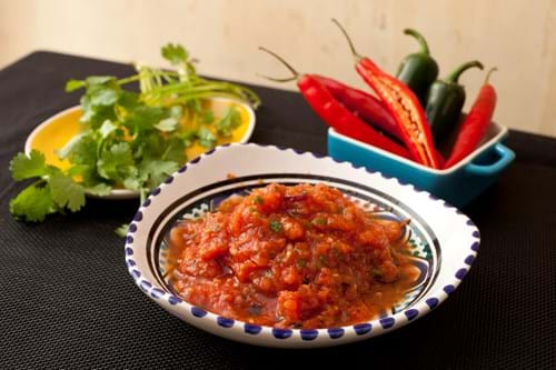 Product Food Photography | Melbourne Photography | Salsa, fresh chillies and coriander