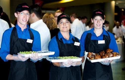 Corporate Event Photography | Melbourne Photography | Waiters carrying food at event