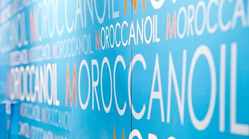 Commercial Photography | Melbourne Photography | Close up of Moroccan Oil sign