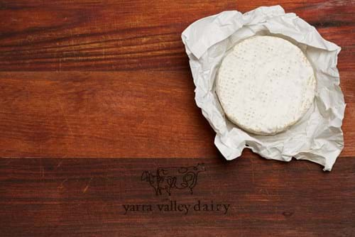 Product Food Photography | Melbourne Photography | Overhead shot of camebert cheese on cheese board