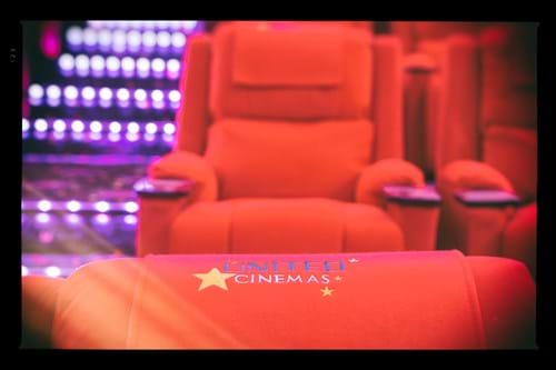 Commercial Photography | Melbourne Photography | Image of cinema chairs in United Cinemas