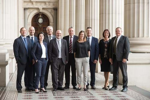 Corporate Portrait Photography | Melbourne Photography | Corporate group staff image outside parliament house