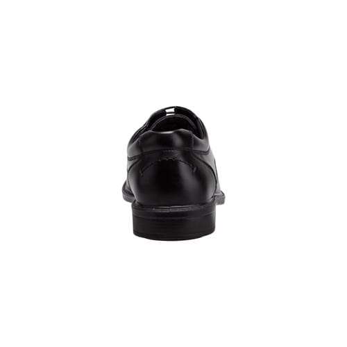 Product Footwear and Shoes Photography | Melbourne Photography | Mens black leather shoe back shot on white background