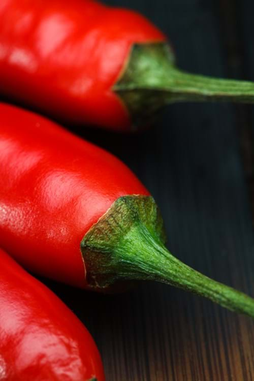 Product Food Photography | Melbourne Photography | Close up of fresh chillies