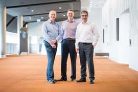 Corporate Portrait Photography | Melbourne Photography | Group shot of men standing indoors
