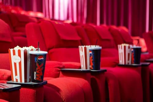 Commercial Photography | Melbourne Photography | Image of popcorn and sof tdrinks in cinema