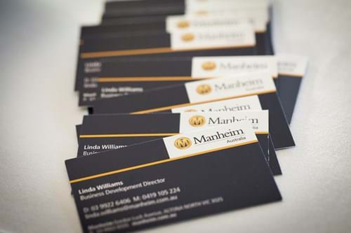 Commercial Photography | Melbourne Photography | Close up of business cards