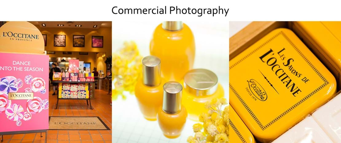 Commercial Photography | Melbourne Photography | Banner image of L'Occitane products in store