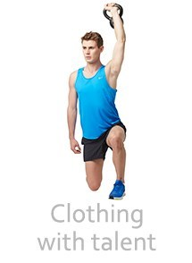 Product Clothing with Talent Photography | Melbourne Photography | Man lifting weights in sports clothing on white background