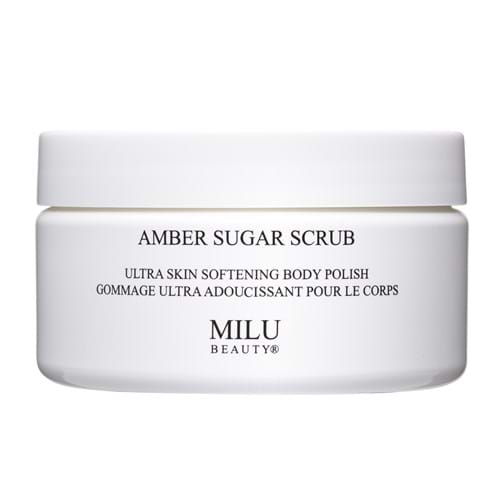 Product Cosmetics Photography | Melbourne Photography | Close up of jar of Milu sugar body scrub