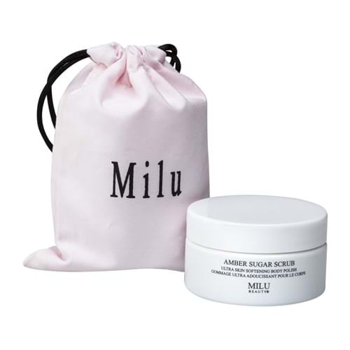 Product Cosmetics Photography | Melbourne Photography | Group shot of Milu body scrub and bag on white background