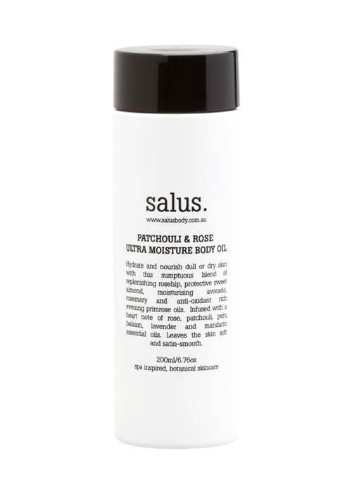 Product Cosmetics Photography | Melbourne Photography | Close up of bottle of Salus body oil on white background