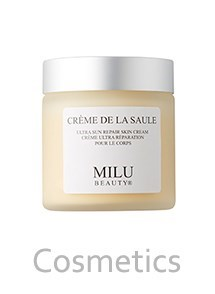 Product Cosmetics Photography | Melbourne Photography | Close up of Milu body cream on white background