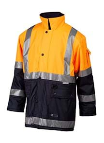 Product Clothing Photography | Melbourne Photography | Ghosted men's safety rain jacket on white background