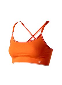 Product Clothing Photography | Melbourne Photography | Ghosted women's orange sports bra on white background