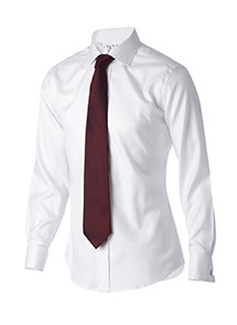 Product Clothing Photography | Melbourne Photography | Ghosted men's white business shirt with tie on white background