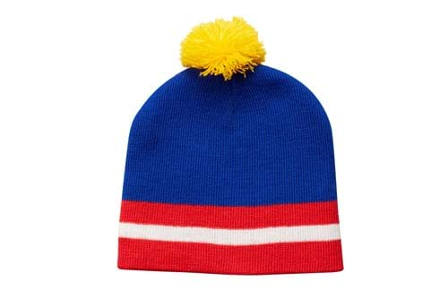 Hats Product Clothing Accessories Photography | Melbourne Photography | Close up of blue beanie on white background