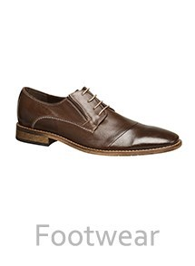 Product Footwear and Shoes Photography | Melbourne Photography | Men's brown leather business shoe side shot on white background