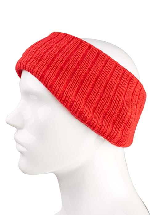 Hats Product Clothing Accessories Photography | Melbourne Photography | Close up of red woolen head band on mannequin white background