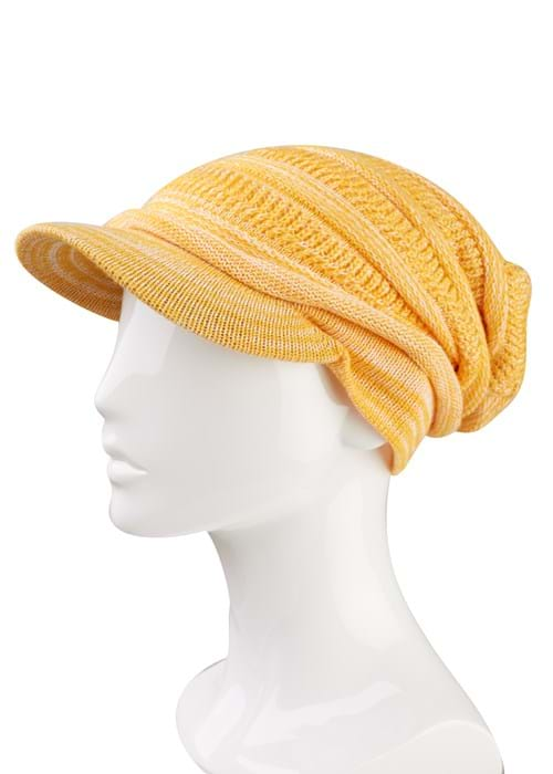 Product Clothing Accessories Photography | Melbourne Photography | Close up of yellow beanie on mannequin white background