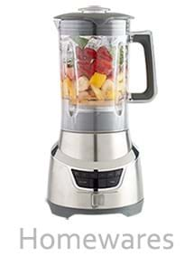Product Homewares Photography | Melbourne Photography | Chrome blender with fresh fruit and ice inside on white background