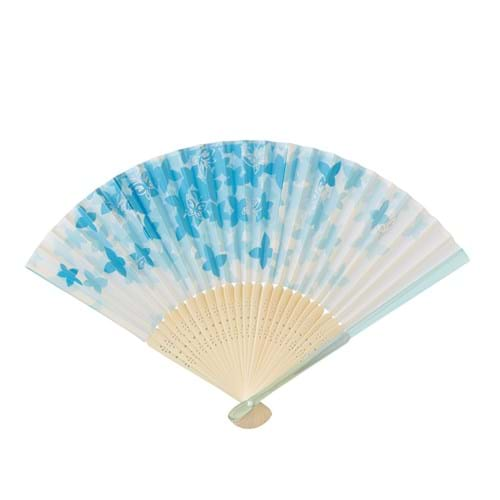Product Clothing Accessories Photography | Melbourne Photography | Close up of blues and white bamboo fan on white background