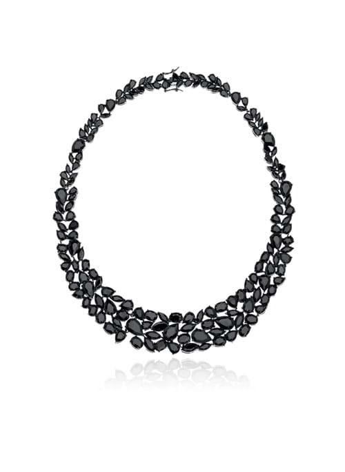 Product Jewellery Photography | Melbourne Photography | Close up of black stone necklace on white background