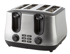 Product Photography | Melbourne Photography | Close up of chrome double toaster on white background