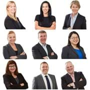 Corporate Portrait Photography | Melbourne Photography | Individual head and shoulder corporate photo of woman and men on white background
