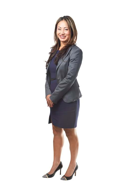 Corporate Portrait Photography | Melbourne Photography | Individual full body corporate portrait of woman on white background