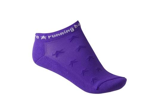 Product Footwear Photography | Melbourne Photography | Womens purple ankle sports sock on white background