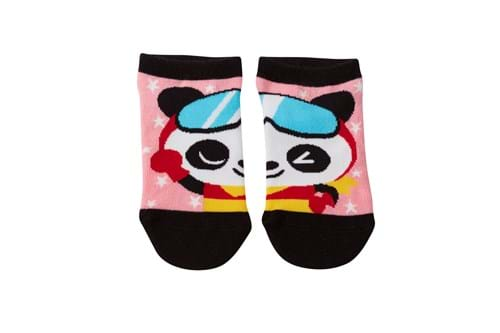 Product Footwear Photography | Melbourne Photography | Pair of childrens socks with panda image on white background