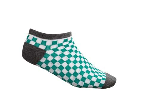 Product Footwear Photography | Melbourne Photography | Womens green checkered ankle sock on white background