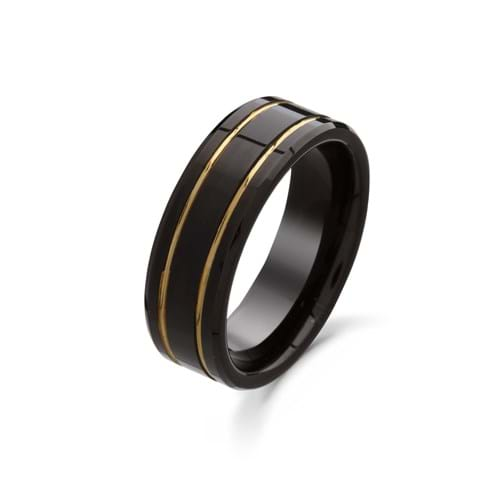 Product Photography Jewellery | Melbourne Photography | Black and gold ring on white background